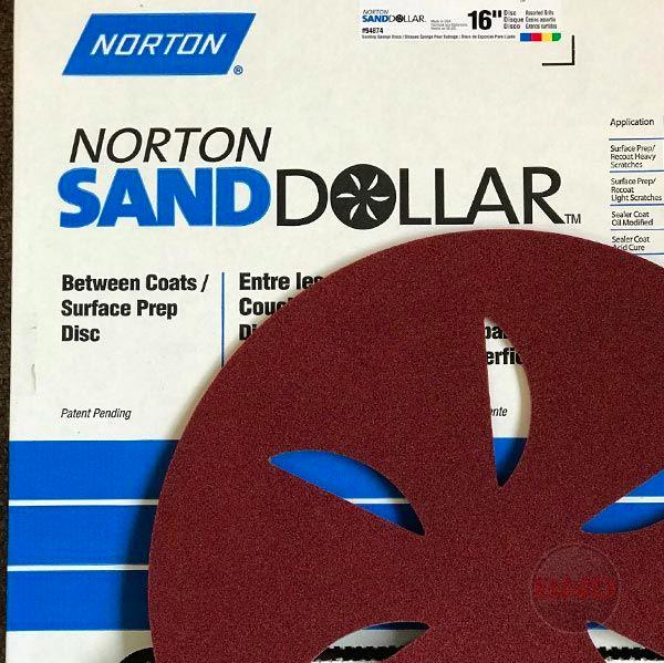 Norton Abrasive Disc 407mm Sand Dollar Red Medium