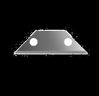 2 Hole Carpet Trimming Blade Dispenser 10 Pack 915-4d